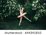 young woman in white tutu... | Shutterstock . vector #644341810
