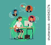 cool vector concept layout on... | Shutterstock .eps vector #644342176