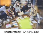 dream team of hipster student... | Shutterstock . vector #644343130