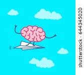 brain on right direction.... | Shutterstock .eps vector #644345020