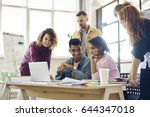 diversity group of male and... | Shutterstock . vector #644347018