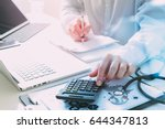 healthcare costs and fees... | Shutterstock . vector #644347813