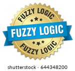 fuzzy logic round isolated gold ... | Shutterstock .eps vector #644348200