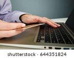 hands holding a credit card...   Shutterstock . vector #644351824