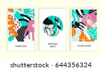 universal abstract posters set. ... | Shutterstock .eps vector #644356324