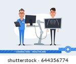 cute cartoon characters.... | Shutterstock .eps vector #644356774