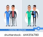 cute cartoon characters. doctor ... | Shutterstock .eps vector #644356780