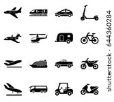 transport and travel icon set... | Shutterstock .eps vector #644360284