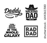 fathers day gift for dad t... | Shutterstock .eps vector #644361580