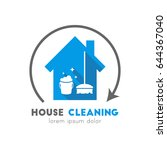 house cleaning service logo... | Shutterstock .eps vector #644367040