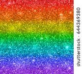 multicolor rainbow glitter... | Shutterstock .eps vector #644369380