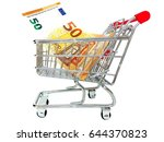 wire shopping cart with new 50  ... | Shutterstock . vector #644370823