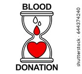 blood transfusion is like an... | Shutterstock .eps vector #644374240