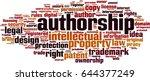 authorship word cloud concept.... | Shutterstock .eps vector #644377249