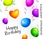birthday greeting card with...   Shutterstock .eps vector #644379574