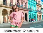 adorable little girl in popular ... | Shutterstock . vector #644380678