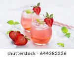 Iced Tea With Strawberries And...