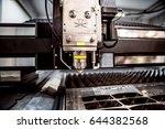 cnc laser cutting of metal ... | Shutterstock . vector #644382568