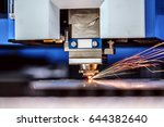 cnc laser cutting of metal ...   Shutterstock . vector #644382640