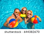 happy family having fun on... | Shutterstock . vector #644382670
