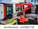robotic arm production lines... | Shutterstock . vector #644382718