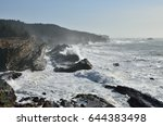 Giant Storm Waves Breaking...
