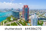 aerial view of south beach.... | Shutterstock . vector #644386270