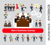 flat startup concept with... | Shutterstock . vector #644388628