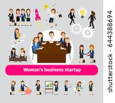 professional woman business... | Shutterstock . vector #644388694