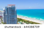 aerial view of south beach.... | Shutterstock . vector #644388709
