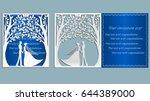 wedding. vector illustration... | Shutterstock .eps vector #644389000