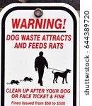 dog waste sign   Shutterstock . vector #644389720