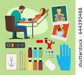tattoo studio illustration.... | Shutterstock . vector #644390488