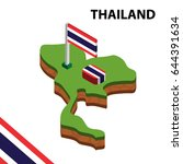 isometric map and flag of... | Shutterstock .eps vector #644391634