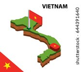 isometric map and flag of... | Shutterstock .eps vector #644391640