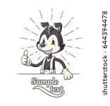 cartoon character in retro 40s... | Shutterstock .eps vector #644394478