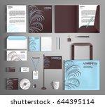trendy corporate identity... | Shutterstock .eps vector #644395114