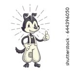 cartoon character in retro 40s... | Shutterstock .eps vector #644396050
