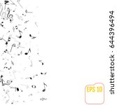 vector falling notes background.... | Shutterstock .eps vector #644396494