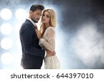 elegant and attractive couple... | Shutterstock . vector #644397010