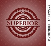 superior badge with red... | Shutterstock .eps vector #644399128