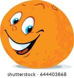 cute orange citrus fruit... | Shutterstock .eps vector #644403868