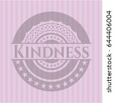 kindness badge with pink... | Shutterstock .eps vector #644406004