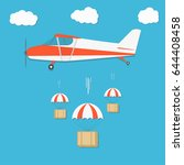 delivery . airplane with... | Shutterstock .eps vector #644408458