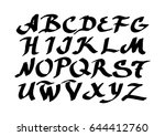 graphic font for your design.... | Shutterstock .eps vector #644412760