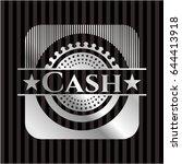 cash silver badge or emblem | Shutterstock .eps vector #644413918