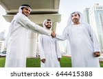 three arabic men bonding... | Shutterstock . vector #644415388