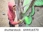 Street Artist Painting Colorfu...