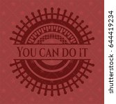 you can do it badge with red... | Shutterstock .eps vector #644419234