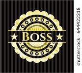 boss golden badge | Shutterstock .eps vector #644422318